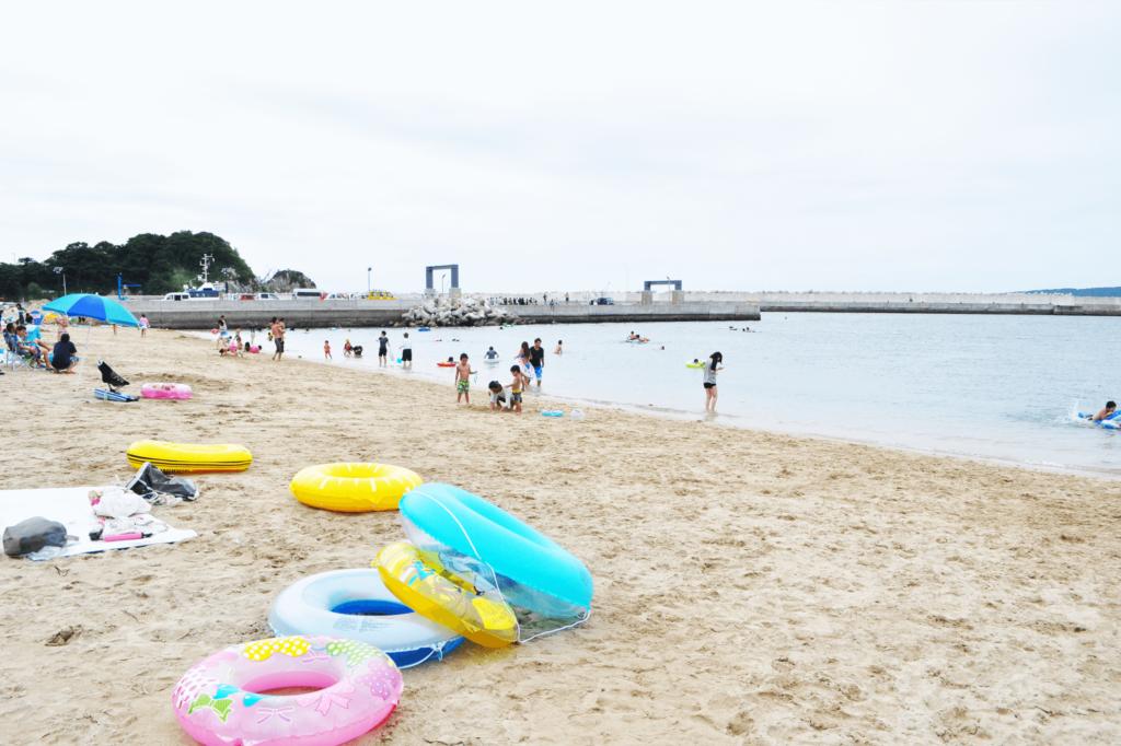 網地白浜の海水浴